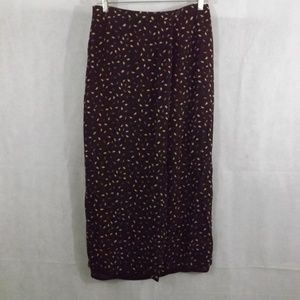 Womens ANN TAYLOR  Skirt - Brown/Leaves - Sz 8